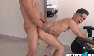 Lionel and Bruno - Flirt4Free - Colombian Twink Lovers Love Kissing and Rough Bareback Sexual congress