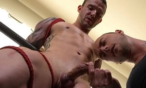 Edging dom sucking males dick