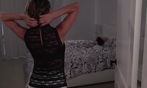 Horny Big Tits MILF Stepmom Alexis Fawx Wakes Up Petite Teen Stepdaughter Riley Anne For Fucking