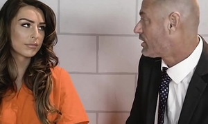 TransSensual Chanel Santini Barebacked by DILF Lawyer in Jail Cell