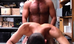 Straight Latino Twink Shoplifter Blackmailed Added to Fucked Apart from Gay Muscle Bear Security Officer