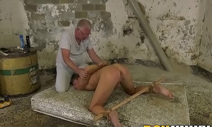 Twink Casper Ellis tied up before cumming immigrant anal torment