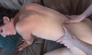 Pretty trap riding cock bareback style