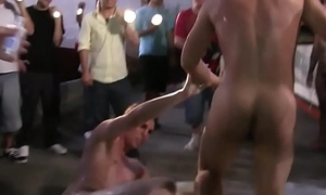 Wrestling college twink gets pounded