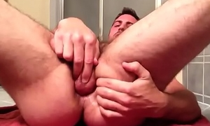 Self-fuck and cumming.
