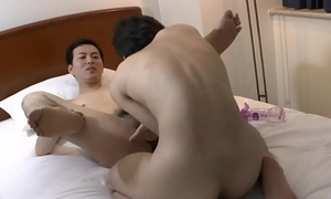 Japanese twink cummed on