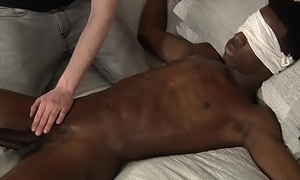 Blindfolded BBC twink gets a unchanging cook jerking