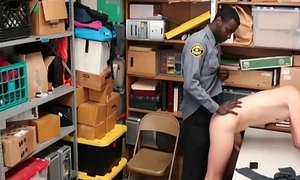 Interracial Bareback Anal In Backroom Of Mall