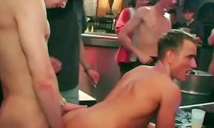 Everydoby gets a stiff detect at a eager gay sex gang