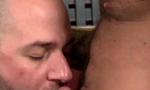 Muscular mature men having some gay fun