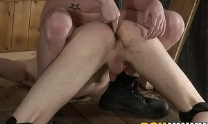 Big dick dom anally disciplines twink and marks him with cum
