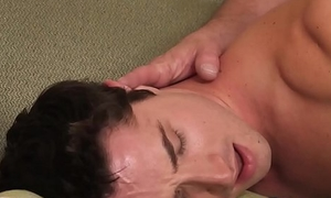 Cute stepson bare fucked hard by his daddy from behind