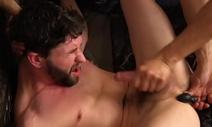 Bound submissive hunk dicksucked relating to threesome