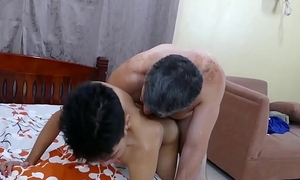 Mature doctor nuisance fucks young Asian twink and splooges