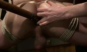 Sex tool drilled plank getting edged while bound