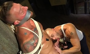 Tiedup board dominated during edging fetish