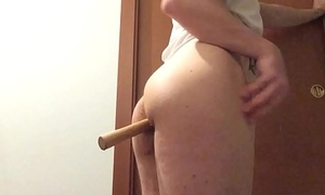 Two tennis ball   a stick video 2. Are you able to insert on your ass?