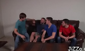 Homosexual guys in love close to penis amazing episodes of group anal sex
