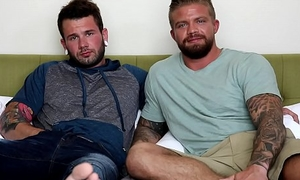 NextDoorBuddies Hot Tatted Beefcake'_s First Time!!