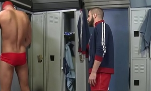 Locker room fun - Marcus Isaacs, Austin Keyes