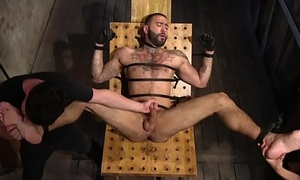 Dominated stud receives restrained and edged