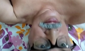 74 years indian old man hard dick white cum