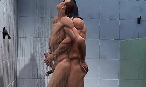 3d robin gets drilled hard anally in the shower by batman
