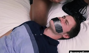 Nasty cop wrecks twinks ass before letting him go free