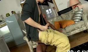 Marvelous flower boy is engulfing gay stud'_s schlong hungrily