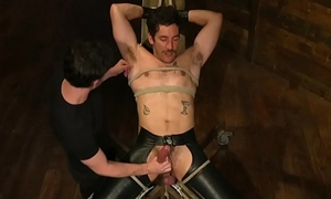 Edge fetish stud dominated and restrained