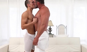 Sexy bear daddy banging cute youthful Mormon till such time as he cums