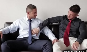 Amateur homosexual studs in episodes be advantageous to asinine office ass porn