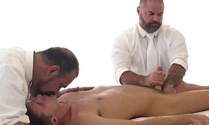 Mormon twink creampied by horny elder after X-rated massage
