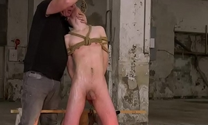 Master Sebastian Kane plays with his tied up young worshiper