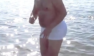 Daddy less Heavy BUTT at the Beach